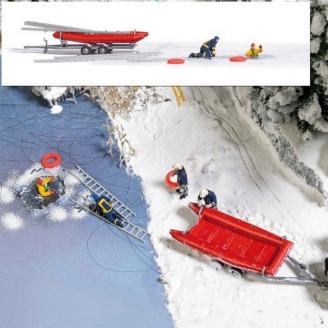 Equipe de secours sur glace-HO 1/87-BUSCH 7855