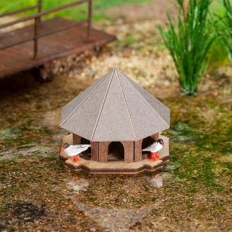 Cabane à canards-HO 1/87-FALLER 180308