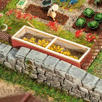 Coffrage (couche froide) de jardin-HO 1/87-FALLER 180306
