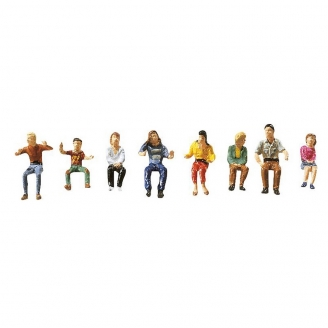 8 personnages assis-HO 1/87-FALLER 153052