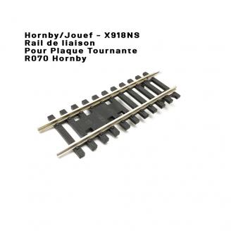 Rail de liaison pour plaque tournante R070-HO 1/87-HORNBY (Jouef)  X918NS