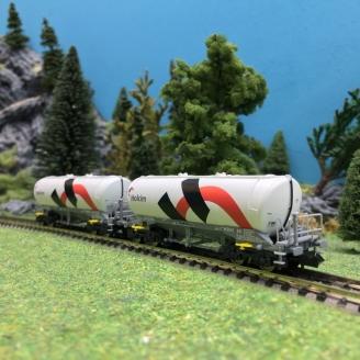 2 wagons citerne Holcim Ep VI-N 1/160-FLEISCHMANN 848903