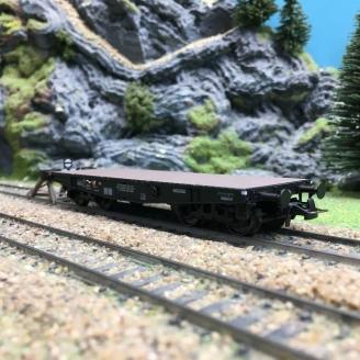 Wagon plat porte char SSy45 Ep III SNCF-HO 1/87-REE WBA021