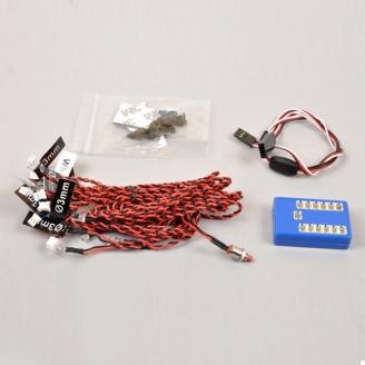 Kit 12 LEDs RC - Drift Car - à monter - T2M T422532