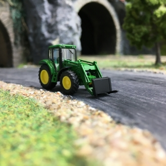 Tracteur John Deere avec Fourche avant-N 1/160-WIKING 095837