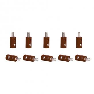 10 connecteurs mâle MARRON (bornes)-toutes échelles-VIESSMANN 6873