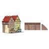 2 Maisons à colombage avec mur enceinte-N-1/160-KIBRI