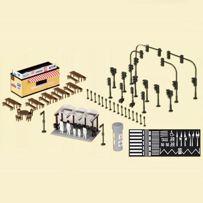 Accessoires urbain ho kibri 38102 modelisme ferroviaire et for Decoration urbaine