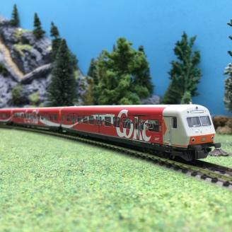 3 voitures S-Bahn Coca-Cola DB Ep V-N 1/160-MINITRIX 15708