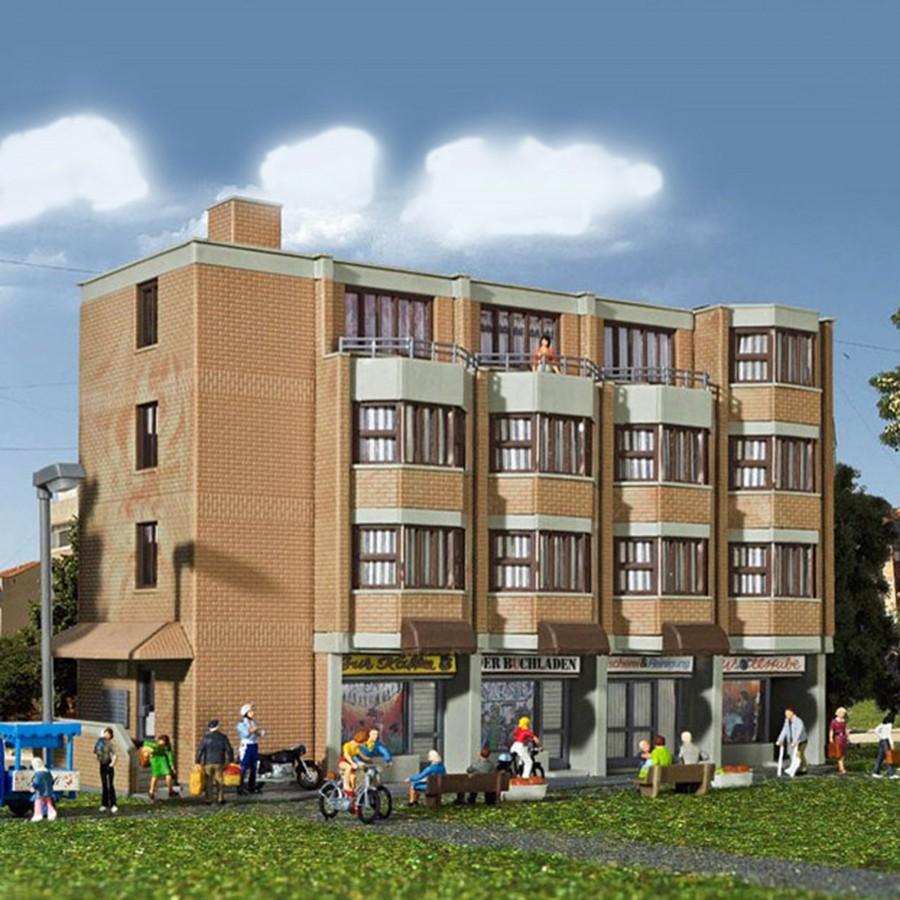 Immeuble avec commerce-HO-1/87-KIBRI 38222
