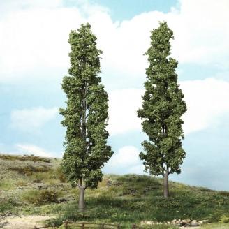 2 Peupliers 27 cm de haut-HO 1/87-HEKI 1983