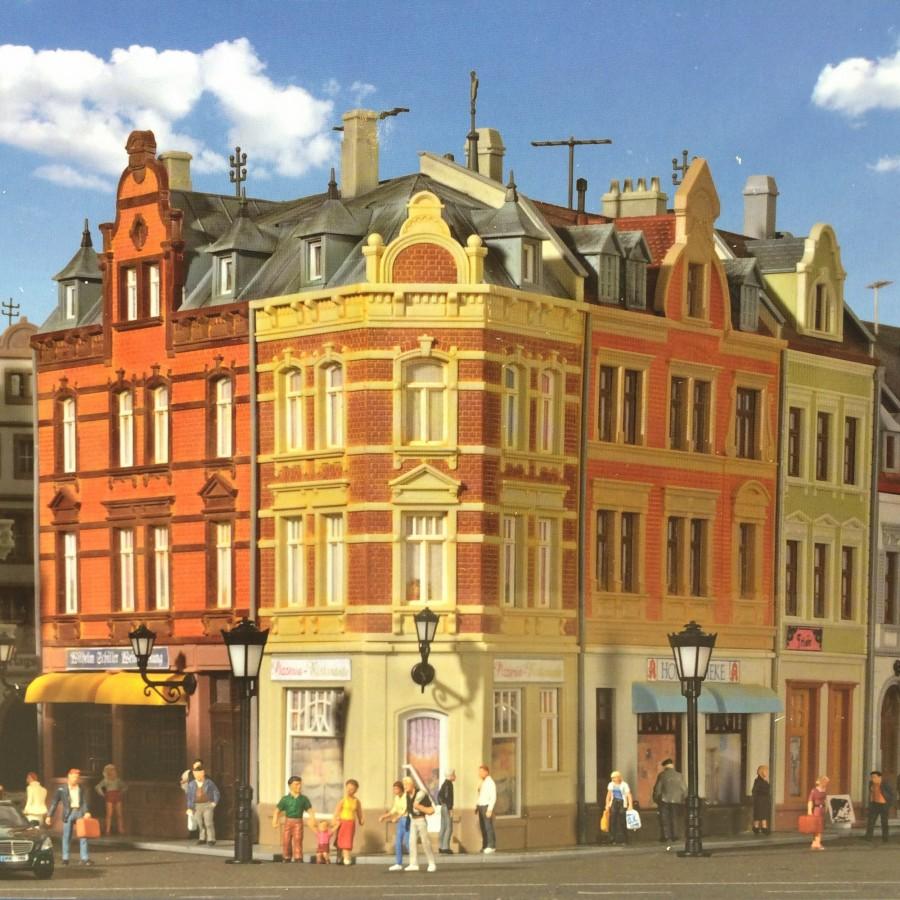 Maison de ville d'angle-HO-1/87-KIBRI 38355
