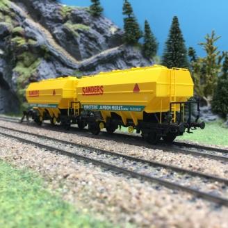 2 wagons céréaliers Ep IV SANDERS-HO 1/87-REE WB557