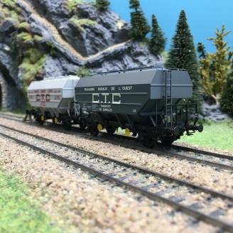 2 wagons céréaliers Ep III CTC E.CARON / MRO-HO 1/87-REE WB552