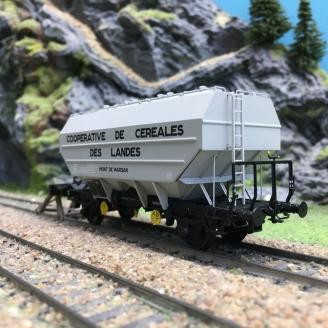 Wagon céréalier Ep III COOP. Céréales des Landes-HO 1/87-REE WB556