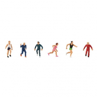 6 sportifs / gymnastes-HO 1/87-FALLER 150947
