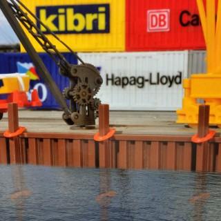 Set décoration port intérieur-HO-1/87-KIBRI 38528