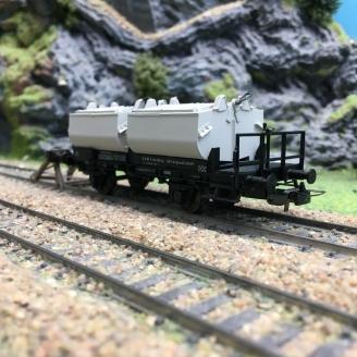 Wagon porte conteneurs DB-HO 1/87-SACHSENMODELLE 16006 DEP32-077