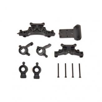 Fusées de roues + supports d'amortisseurs-1/10 et 1/12-T2M T4933/06