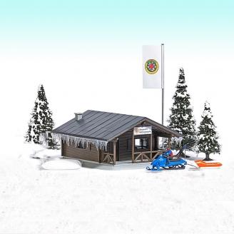 Station de sauvetage en montagne-HO 1/87-BUSCH 1086