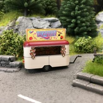 """Caravane Nagetusch """"Stand de gourmandises""""-HO 1/87-BUSCH 51758"""