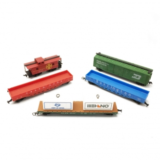 Lot de 5 wagons US-HO 1/87-MEHANO DEP61-069