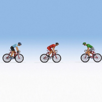 3 cyclistes-HO 1/87-NOCH 15897
