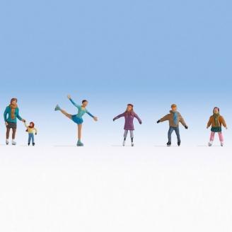 Patineurs sur glace-HO 1/87-NOCH 15824
