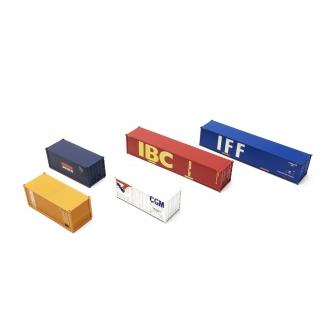 5 Conteneurs-HO 1/87-LIMA Hobby HL8002
