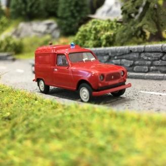 Renault 4L fourgonnette Pompiers-HO-1/87-BREKINA 14747