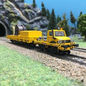 Convoi de Travaux Unimog + wagon DB Ep VI digitale son 3R-HO-1/87-MARKLIN 39940