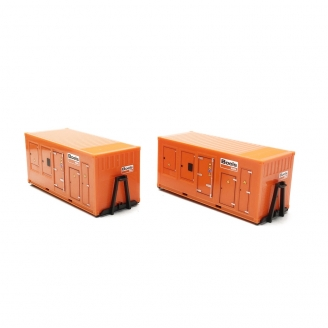 """2 Containers 20"""" BOELS-HO 1/87-HERPA 76890"""