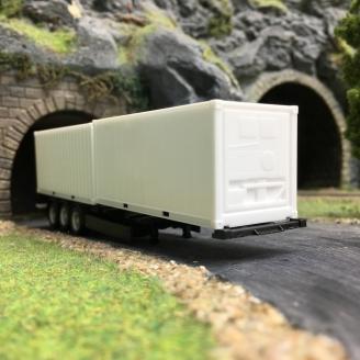 Remorque 2 Container-HO 1/87-HERPA 076494-002