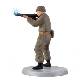 Soldat avec fusil et lumière animée-HO 1/87-VIESSMANN 1530