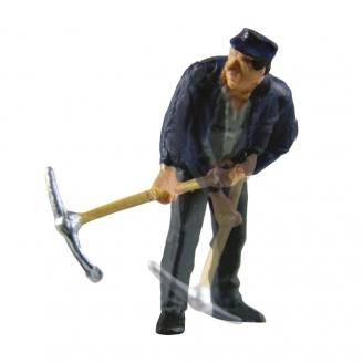 Ouvrier avec sa pioche animée-HO 1/87-VIESSMANN 1527
