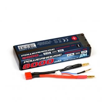 Batterie Li-Po 2S 100C powerhouse 8000 mAh, 7.6V - T2M T1380002C