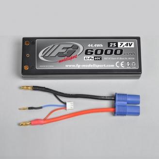 Batterie Li-Po 2S 60C 6000mAh, 7.4V - FG 06556