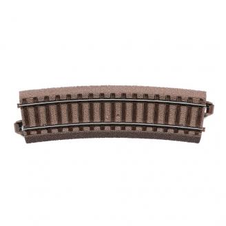 Rail courbe R3 : 515mm à 15 degrés-HO-1/87-TRIX 62315