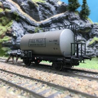 Wagon citerne Paul MILLET SNCF Ep III-HO 1/87-EXACT TRAIN 20621