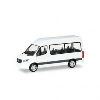 "Mercedes Sprinter 18"" Bus Blanc Kit-HO 1/87-HERPA 13468"