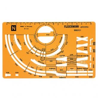 Gabarit de dessin pour réseau-N 1 /160-FLEISCHMANN 995101