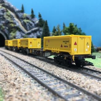 """2 Porte - conteneurs """"Excavation Stuttgart 21"""" DB-HO 1/87-TRIX 24138"""