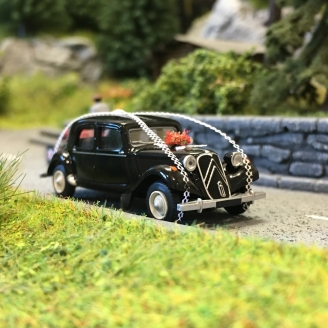 Citroën Traction 11B 1952 voiture des mariés-HO 1/87-SAI 6115