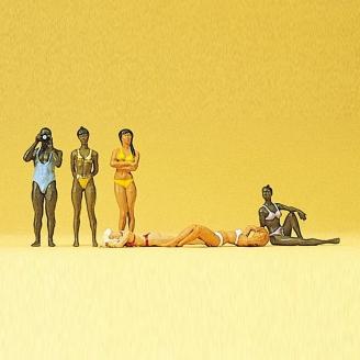 6 Femmes en maillot de bain - Baigneuses-HO 1/87-PREISER 10309