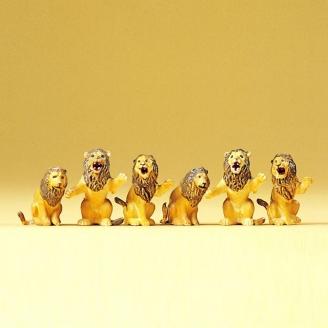 6 Lions Assis -HO 1/87-PREISER 20381
