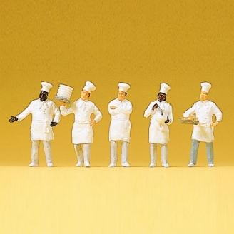 5 cuisiniers + buffet-HO 1/87-PREISER 10330