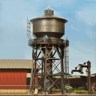 Château d'eau métallique avec robinet de ravitaillement - HO-1/87-KIBRI 39328