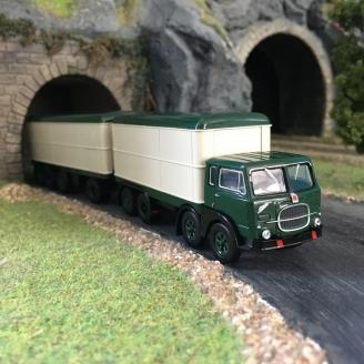 Camion remorque tolé FIAT 690 Millepiedi-HO 1/87-BREKINA 58422