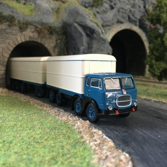 Camion remorque tolé FIAT 690 Millepiedi-HO 1/87-BREKINA 58420