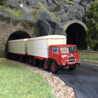 Camion remorque tolé FIAT 690 Millepiedi-HO 1/87-BREKINA 58421